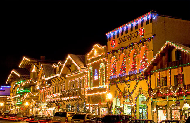 Leavenworth Christmas Lights.Christmas Lighting Festival Leavenworth Washington Usa